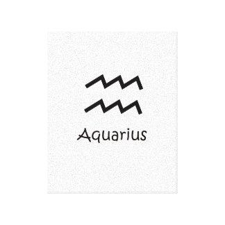 白いアクエリアスの(占星術の)十二宮図1月20日- 2月18日 キャンバスプリント