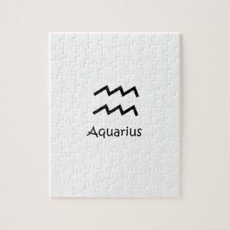 白いアクエリアスの(占星術の)十二宮図1月20日- 2月18日 ジグソーパズル