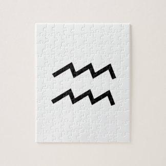 白いアクエリアス2の(占星術の)十二宮図1月20日- 2月18日 ジグソーパズル