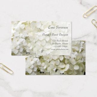 白いアジサイによっては花屋が開花します 名刺