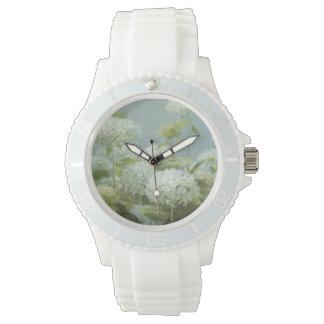 白いアジサイの庭 腕時計