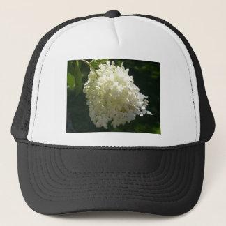 白いアジサイの花房 キャップ
