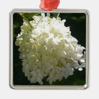 白いアジサイの花房 メタルオーナメント
