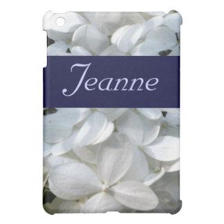 白いアジサイのiPadの箱 iPad Miniケース