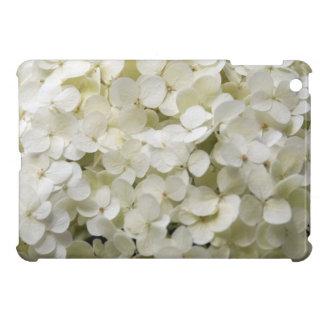 白いアジサイのiPad Miniケース iPad Mini Case