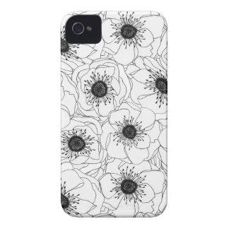 白いアネモネ Case-Mate iPhone 4 ケース