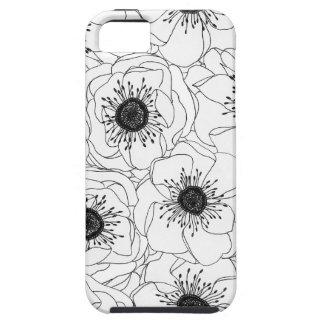 白いアネモネ iPhone SE/5/5s ケース