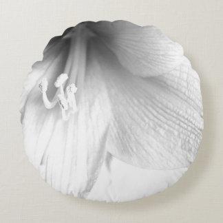 白いアマリリス ラウンドクッション