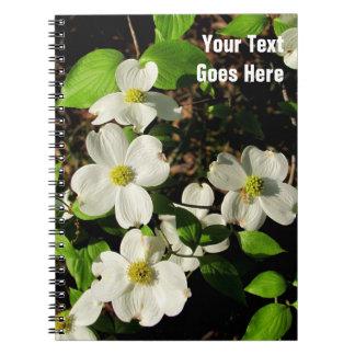 白いアメリカヤマボウシの花のノート ノートブック