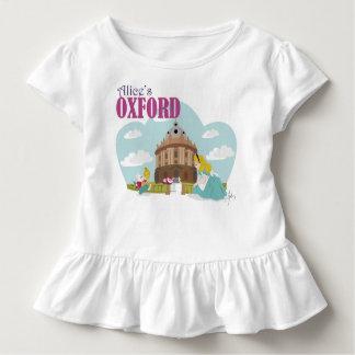 白いアリスのオックスフォードの幼児のひだのティー トドラーTシャツ