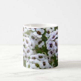 白いアリッサムのマグ コーヒーマグカップ
