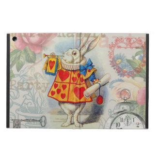 白いウサギのハート iPad AIRケース