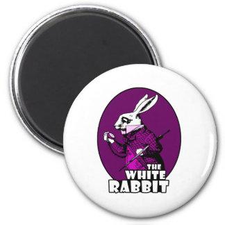 白いウサギのロゴの紫色 マグネット