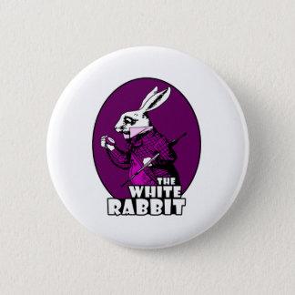 白いウサギのロゴの紫色 5.7CM 丸型バッジ