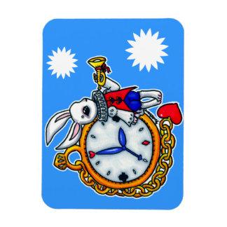 白いウサギの壊中時計 マグネット