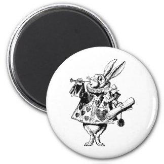 白いウサギの布告者は黒にインクをしみ込ませました マグネット