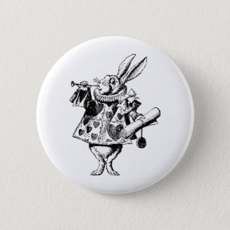 白いウサギの布告者は黒にインクをしみ込ませました 5.7CM 丸型バッジ