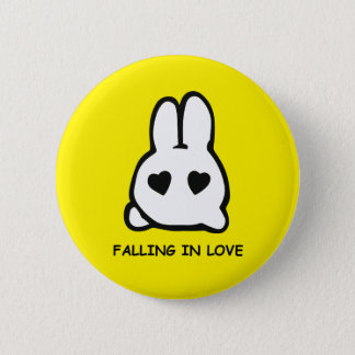 白いウサギを後を追って下さい! 5.7CM 丸型バッジ