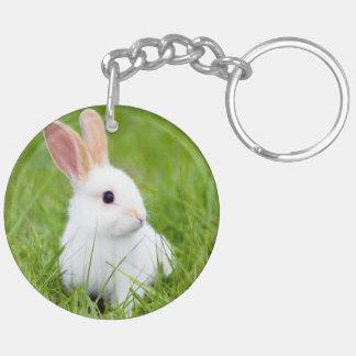 白いウサギ キーホルダー
