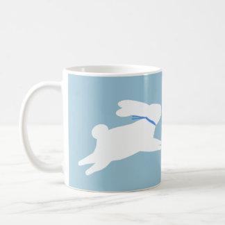 白いウサギ コーヒーマグカップ