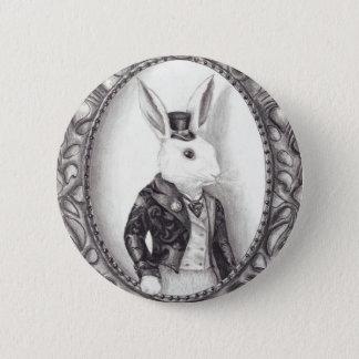 白いウサギ-ボタン 缶バッジ