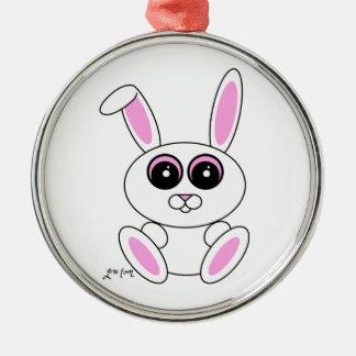 白いウサギ メタルオーナメント