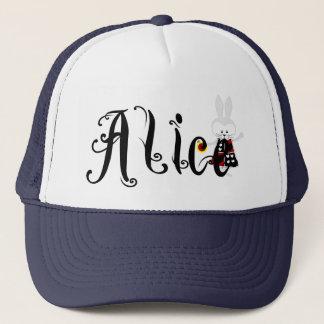 白いウサギ-不思議の国のアリスの冒険 キャップ
