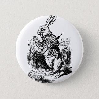 白いウサギ-不思議の国のアリス 缶バッジ
