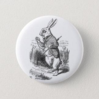 白いウサギ 缶バッジ