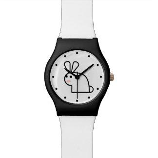 白いウサギ 腕時計