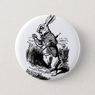 白いウサギ 5.7CM 丸型バッジ