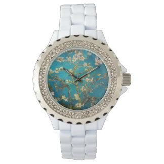 白いエナメルのカスタムなヴィンテージの芸術 腕時計