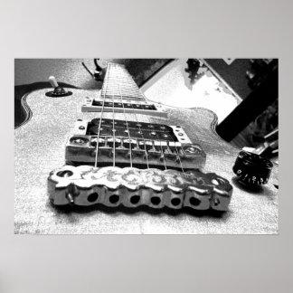 白いエレキギター ポスター