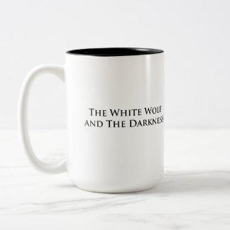 白いオオカミおよび暗闇のマグ ツートーンマグカップ