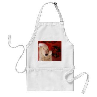 白いオオカミのクリスマスのエプロン スタンダードエプロン