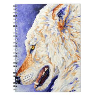 白いオオカミのノート ノートブック