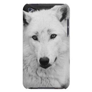 白いオオカミの写真のCase mate ipod touchの場合 Barely There iPod カバー