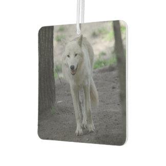 白いオオカミ カーエアーフレッシュナー