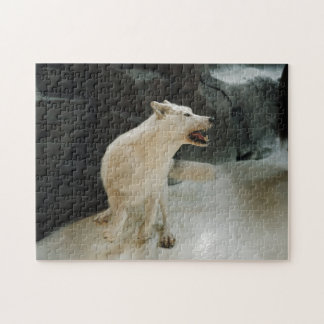 白いオオカミ ジグソーパズル