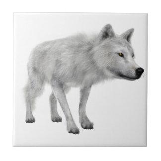 白いオオカミ タイル