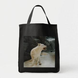 白いオオカミ トートバッグ