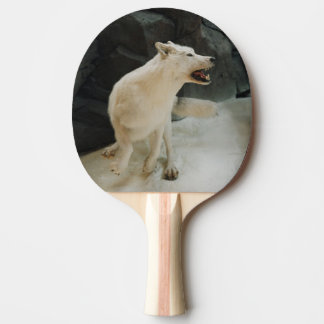 白いオオカミ 卓球ラケット