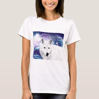 白いオオカミ Tシャツ