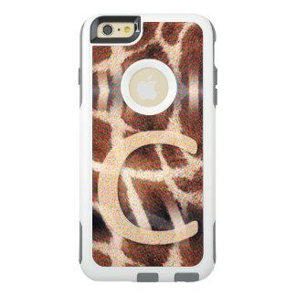 白いオッターボックスのAppleのiPhoneの箱-モノグラムC オッターボックスiPhone 6/6s Plusケース