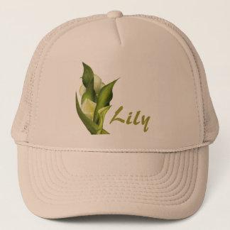 白いオランダカイウの帽子 キャップ