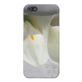 白いオランダカイウユリのiphone 4ケース iPhone 5 カバー