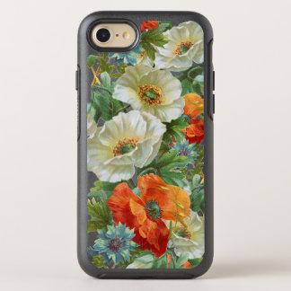白いオレンジケシの花のiPhone 7/8のオッターボックスの場合 オッターボックスシンメトリーiPhone 8/7 ケース