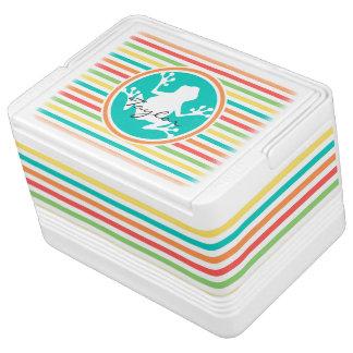 白いカエル; 明るい虹は縞で飾ります IGLOOクーラーボックス
