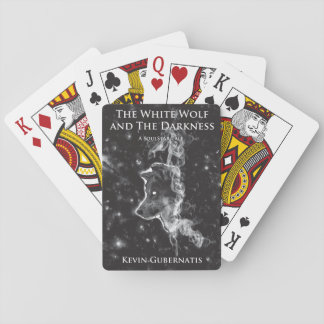 白いカードを遊ぶオオカミおよび暗闇 トランプ