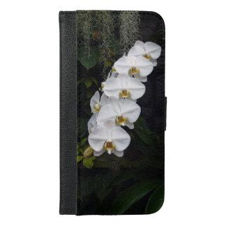 白いガ蘭のデザインのiPhoneのフォルダー iPhone 6/6s Plus ウォレットケース